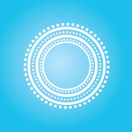 Empty circle track with dash line on white background. vector illustration. 스톡 콘텐츠 - 130107237