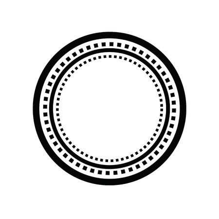 Empty circle track with dash line on white background. vector illustration. 일러스트