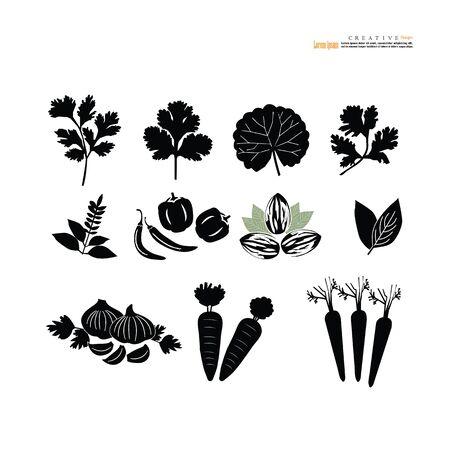 vegetables icon on white background.vector illustration. Vettoriali