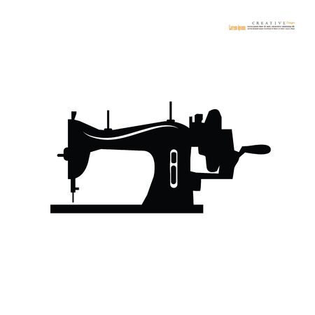 sewing machine icon on white background.vector illustration.