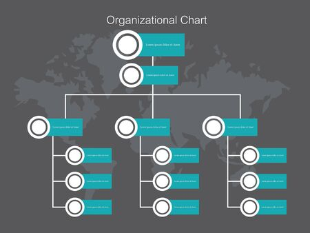 Organization Chart Infographics.Business Flowchart Work Process.Vector Illustration. Ilustração
