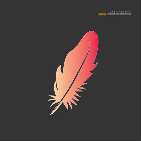 feather icon on white background.feather vector.vector illustration.