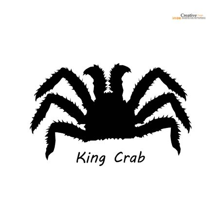 Alaskan king crab in isolated white background.vector illustration.