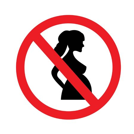 no pregnant woman sign on white background.prohibit sign.vector illustration.