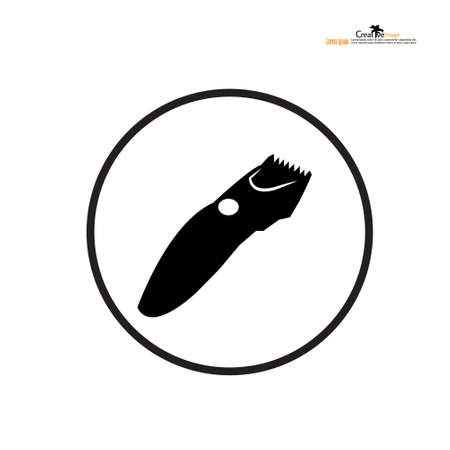 Hair clipper vector icon on white background, Hair clipper icon.vector illustration.