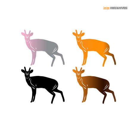 Barking deer reserved animal of Thailand.vector illustration.