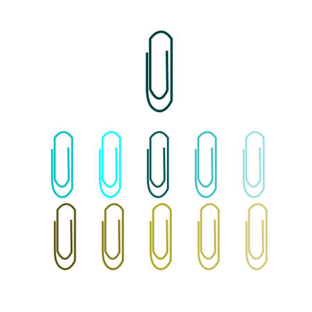 paper clip isolated on white background.vector illustration.