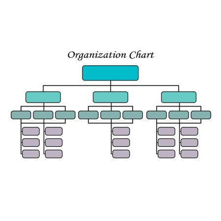 Organization Chart Infographics.Business Flowchart Work Process.Vector Illustration. 矢量图像