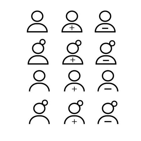 Man icon on white background. vector illustration.