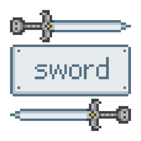 sword: Pixel art sword for game and design