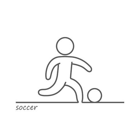 blacks: Vector outline of a shape soccer player Illustration