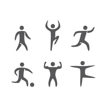 atleta corriendo: Figuras de la silueta de los atletas de deportes populares. Correr y fitness Vectores
