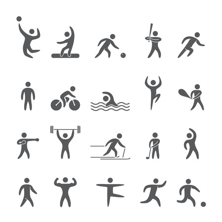 Silhouettes figures of athletes popular sports Imagens - 39761909