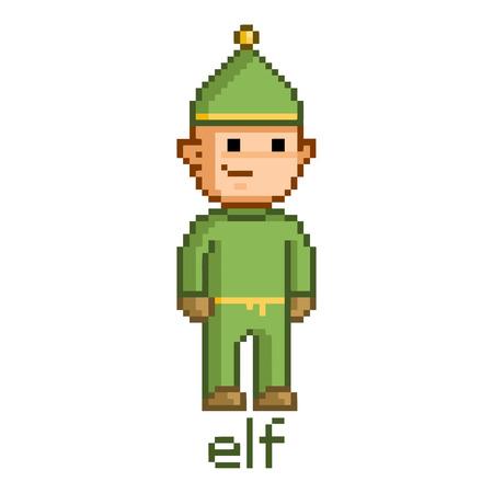arte pixel pixel divertido duende casa de arte para los juegos y diseo foto de archivo