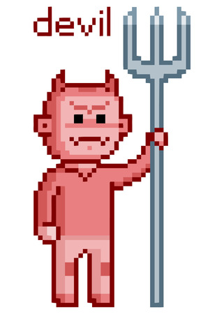 8 bit: pixel art devil Enemy 8 bit for games
