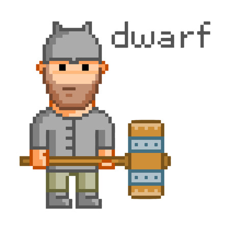 8 bit: Pixel dwarf for 8 bit video game and design