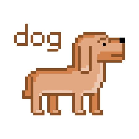 8 bit: Perro del pixel por un videojuego de 8 bits y dise�o