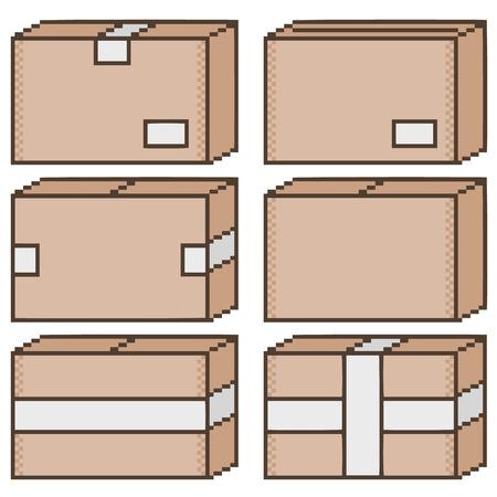8 bit: Arte de la caja de p�xeles por 8 bits juegos y dise�o