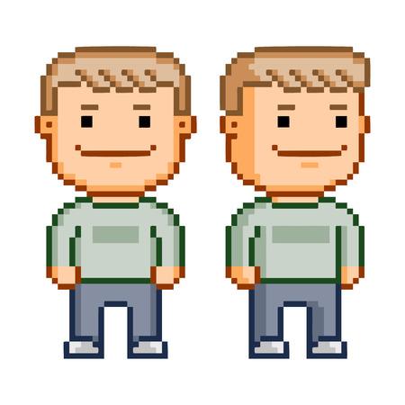 8 bit: H�roe Pixel para el juego de video y dise�o de 8 bits