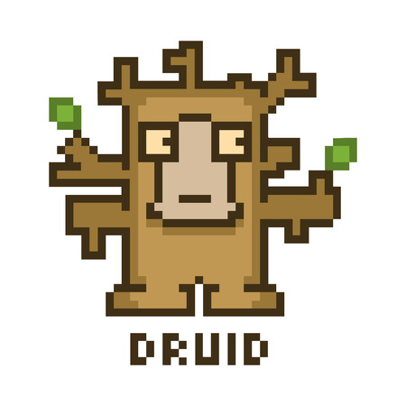 druid: Pixel druid for 8-bit video games and design