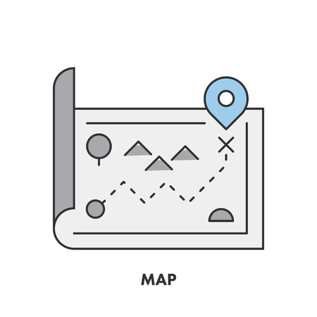 Line icons map in color.