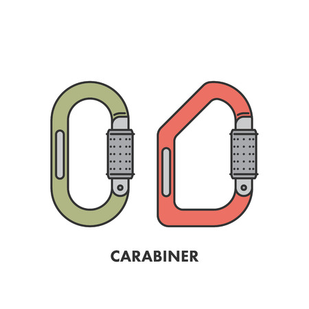 karabiner: Line icons trees in color.
