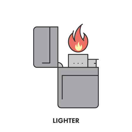 cigar label: Line icon lighter in color.