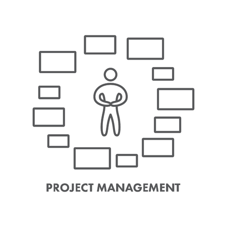 project management: Line icon project management.