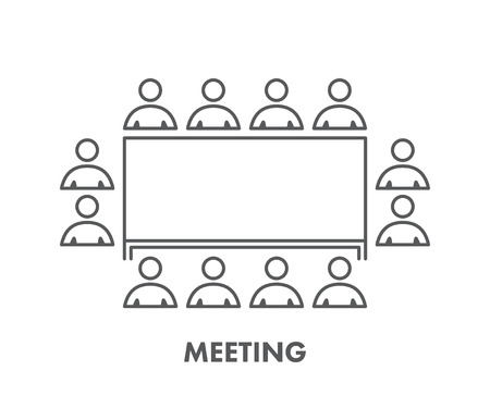 business meeting: Line icon business meeting.
