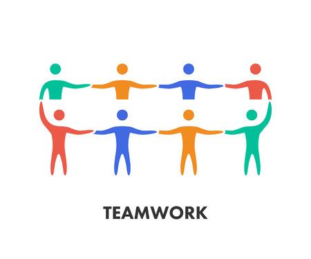trabajo en equipo: L�nea de trabajo en equipo icono.