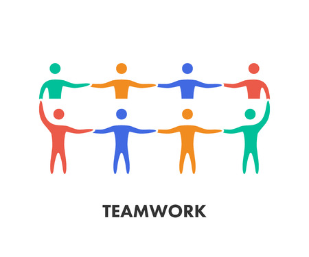 Line icon teamwork.
