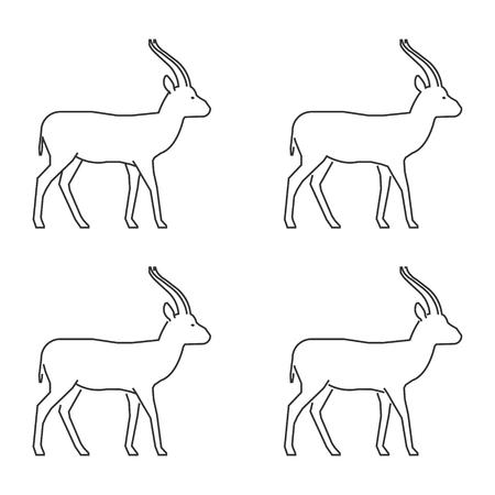 gazelle: Outline gazelle on a white background. Illustration