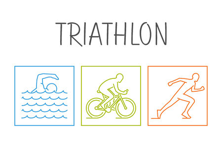 triathlon: Modern vector symbol for triathlon.
