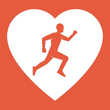 i label: I love run. Sport label and badge.