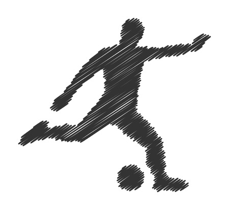 Cool vector concept soccer. Football players black silhouette. Modern soccer .