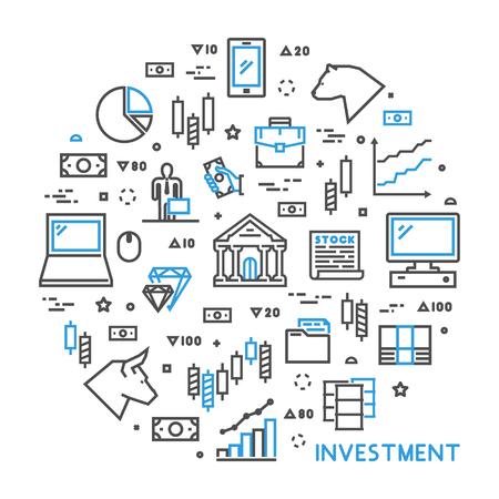 concepto de línea redonda para la inversión