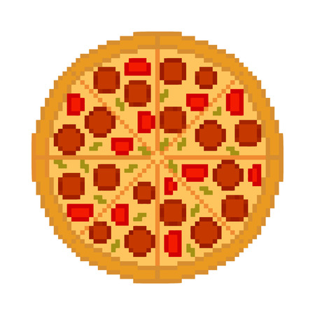 Vector fresco gustosa pizza su sfondo bianco