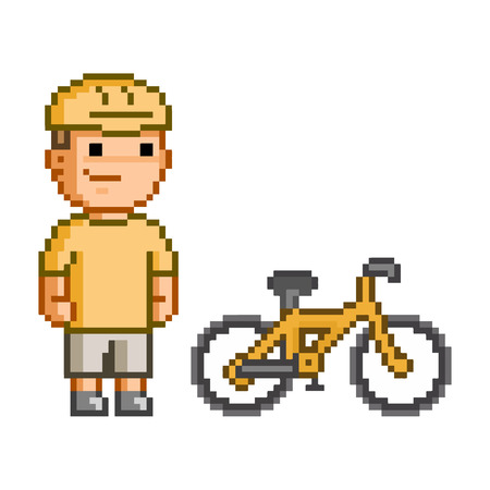users video: pixel cyclist for games and design.