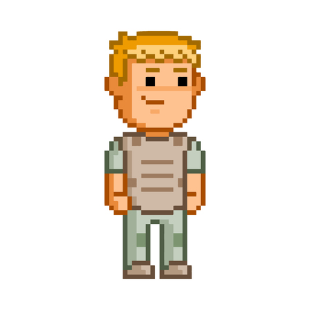 users video: 8 bit pixel hero for game and design. Illustration