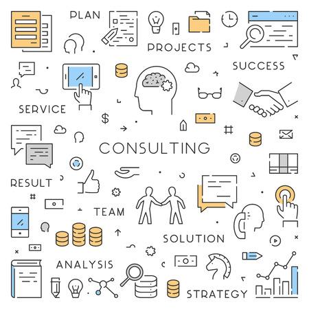 Modern line webconcept voor consultancy