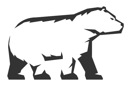A Vector icon of bear on white background.