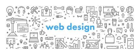 Vector line concept for website design Ilustração