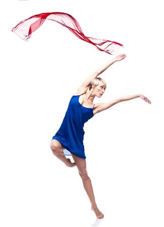 danza contemporanea: estilo moderno bailarina Foto de archivo