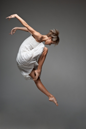 woman flying: modern style dancing girl