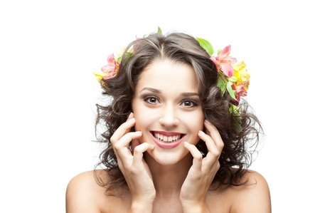 young happy brunette girl Stock Photo - 15752630