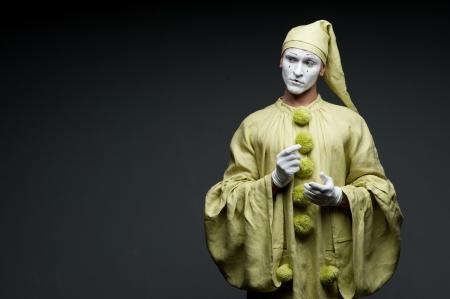 funny mime show calm face 免版税图像