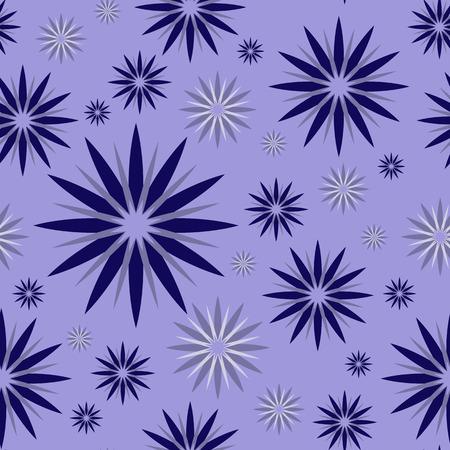 estrellas moradas: fairy purple stars abstract vector seamless pattern background Vectores