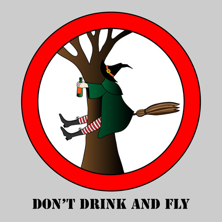 do not drink and fly vector illustration