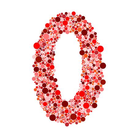 number zero: digit number zero on white background vector illustration