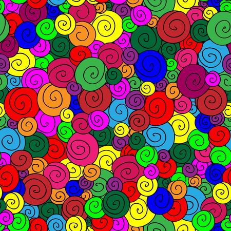 lolli: colorful lollipop vector seamless pattern Illustration